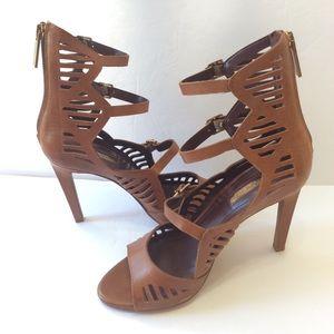 BCBGeneration Brown Vintage Leather Heels 6
